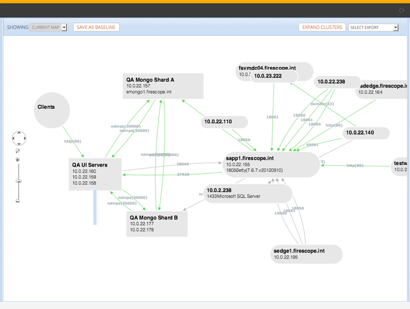 application dependency mapping software